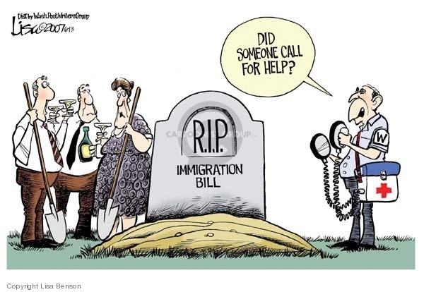 Lisa Benson  Lisa Benson's Editorial Cartoons 2007-06-13 immigration bill