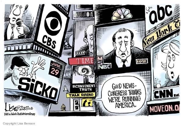 Lisa Benson  Lisa Benson's Editorial Cartoons 2007-06-26 New York