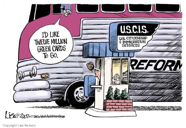 Lisa Benson  Lisa Benson's Editorial Cartoons 2007-06-27 immigration bill