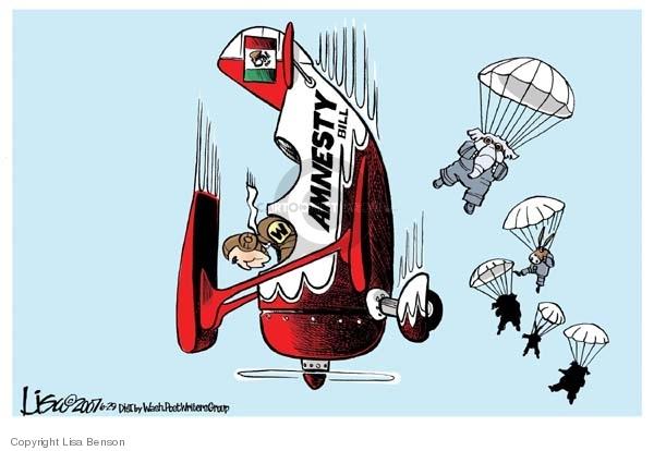 Lisa Benson  Lisa Benson's Editorial Cartoons 2007-06-29 bipartisan