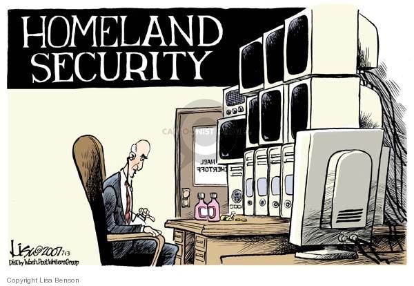 Cartoonist Lisa Benson  Lisa Benson's Editorial Cartoons 2007-07-13 security system