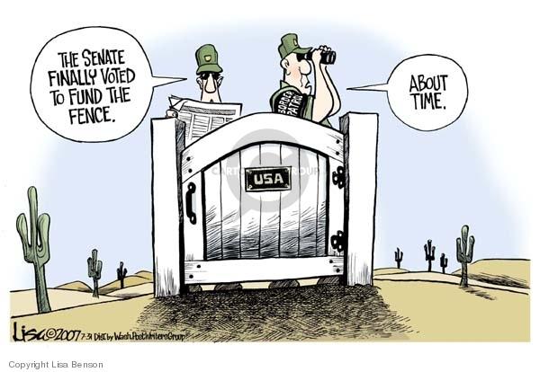 Lisa Benson  Lisa Benson's Editorial Cartoons 2007-07-31 immigration bill