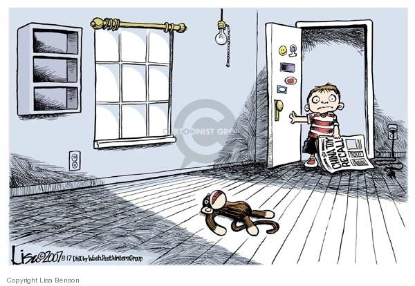 Cartoonist Lisa Benson  Lisa Benson's Editorial Cartoons 2007-08-17 toy