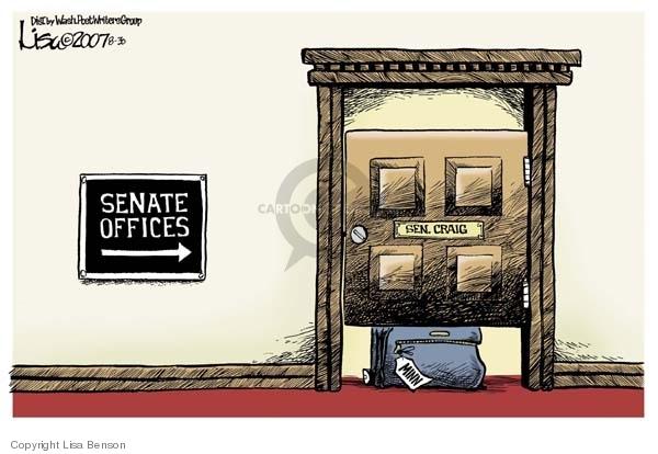 Cartoonist Lisa Benson  Lisa Benson's Editorial Cartoons 2007-08-30 senator