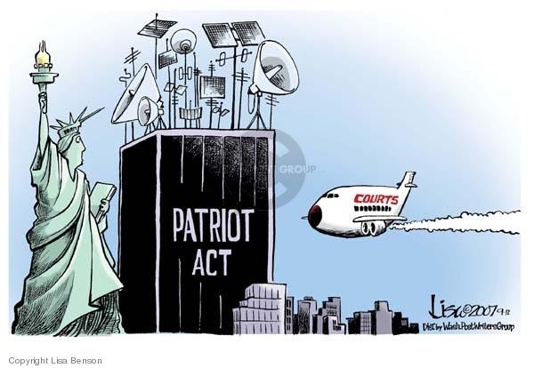 Lisa Benson  Lisa Benson's Editorial Cartoons 2007-09-12 civil liberty