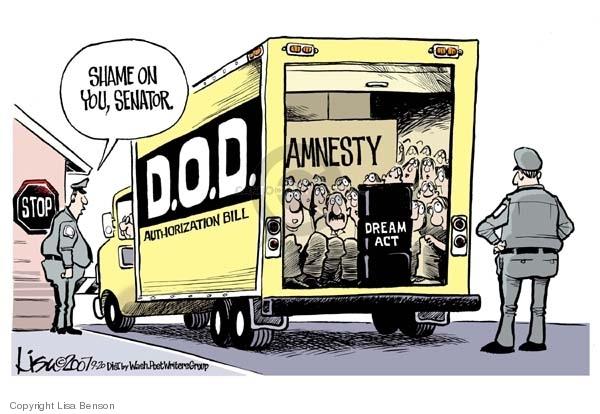 Lisa Benson  Lisa Benson's Editorial Cartoons 2007-09-20 immigration bill
