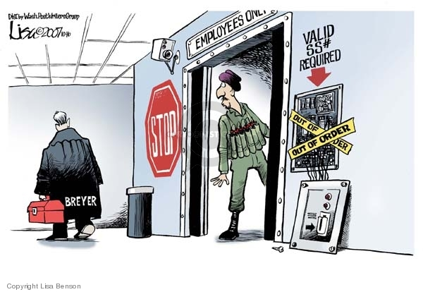 Cartoonist Lisa Benson  Lisa Benson's Editorial Cartoons 2007-10-16 security