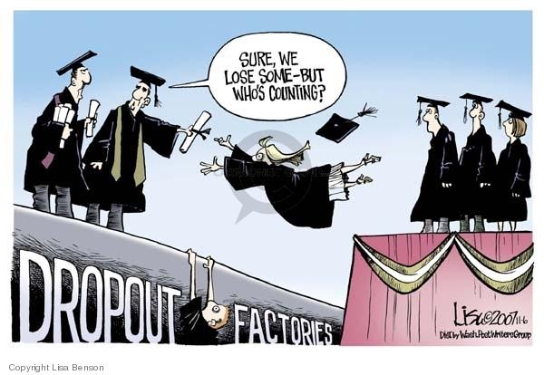 Cartoonist Lisa Benson  Lisa Benson's Editorial Cartoons 2007-11-06 graduation