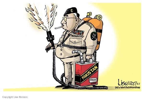 Lisa Benson  Lisa Benson's Editorial Cartoons 2007-11-07 danger