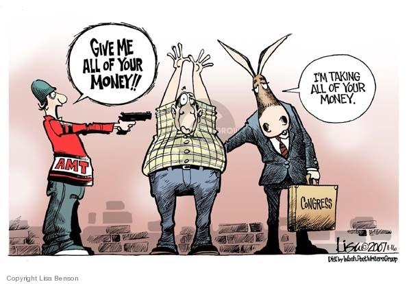 Cartoonist Lisa Benson  Lisa Benson's Editorial Cartoons 2007-11-16 minimum tax