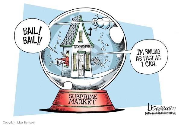 Lisa Benson  Lisa Benson's Editorial Cartoons 2007-12-07 mortgage