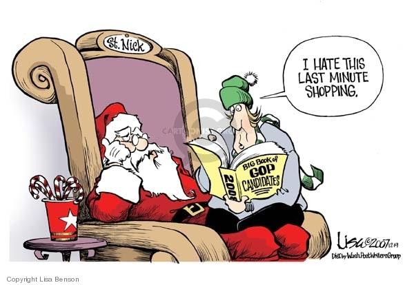 Cartoonist Lisa Benson  Lisa Benson's Editorial Cartoons 2007-12-19 big