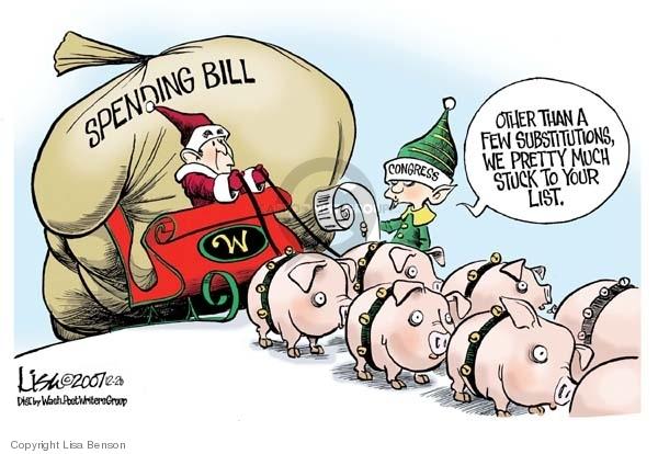 Lisa Benson  Lisa Benson's Editorial Cartoons 2007-12-20 federal budget