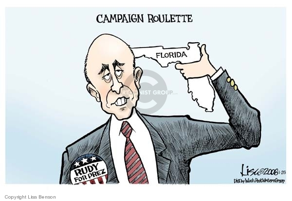 Lisa Benson  Lisa Benson's Editorial Cartoons 2008-01-25 Rudy Giuliani