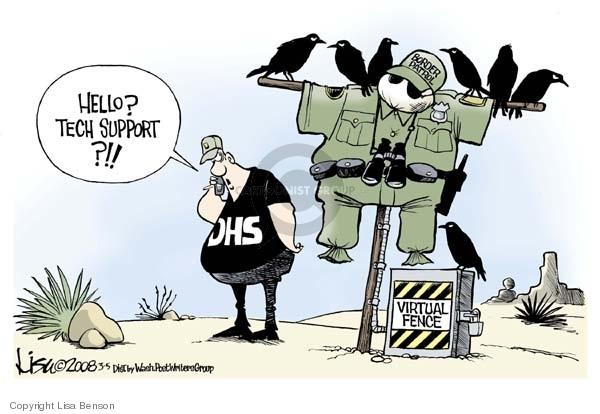 Cartoonist Lisa Benson  Lisa Benson's Editorial Cartoons 2008-03-05 Department of Homeland Security