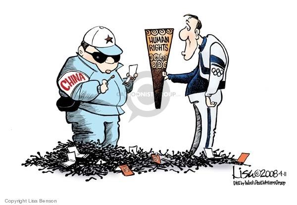 Cartoonist Lisa Benson  Lisa Benson's Editorial Cartoons 2008-04-11 abuse