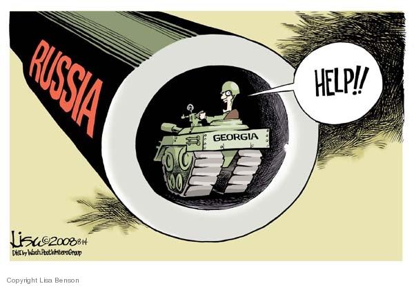Lisa Benson  Lisa Benson's Editorial Cartoons 2008-08-14 Georgia