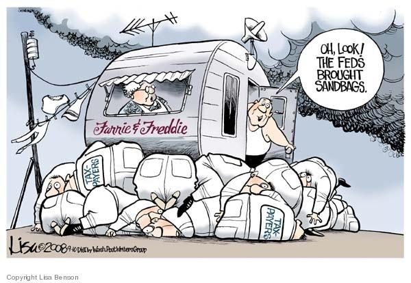 Lisa Benson  Lisa Benson's Editorial Cartoons 2008-09-10 mortgage