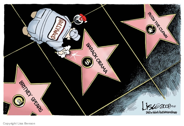 Cartoonist Lisa Benson  Lisa Benson's Editorial Cartoons 2008-09-18 clown