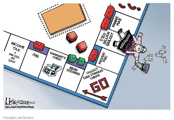 Lisa Benson  Lisa Benson's Editorial Cartoons 2008-09-24 stock market