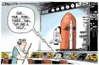 Cartoonist Lisa Benson  Lisa Benson's Editorial Cartoons 2011-06-14 space shuttle
