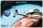 Cartoonist Lisa Benson  Lisa Benson's Editorial Cartoons 2014-03-21 Malaysia Airlines flight 370