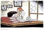 Cartoonist Lisa Benson  Lisa Benson's Editorial Cartoons 2007-08-09 baseball