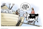 Cartoonist Lisa Benson  Lisa Benson's Editorial Cartoons 2008-01-22 livestock