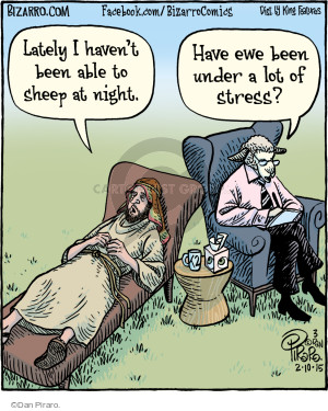 Lately I havent been able to sheep at night. Have ewe been under a lot of stress?