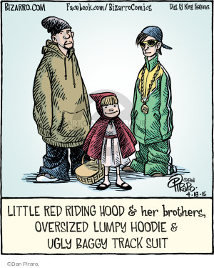 Little Red Riding Hood & her brothers, Oversized Lumpy Hoodie & Ugly Baggy Track Suit.