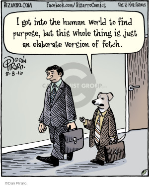 I got into the human world to find purpose, but this whole thing is just an elaborate version of fetch.