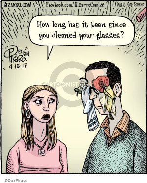 How long has it been since you cleaned your glasses?