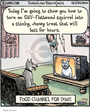 Today Im going to show you how to turn an SUV-flattened squirrel into a stinky, chewy treat that will last for hours. Food Channel for Dogs.