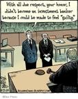 Cartoonist Dan Piraro  Bizarro 2009-04-27 justice