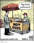 Cartoonist Dan Piraro  Bizarro 2009-10-09 hot dog