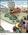 Cartoonist Dan Piraro  Bizarro 2009-10-12 fast food restaurant