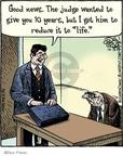 Cartoonist Dan Piraro  Bizarro 2009-10-13 justice