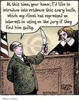 Cartoonist Dan Piraro  Bizarro 2009-11-23 justice