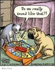 Cartoonist Dan Piraro  Bizarro 2010-03-20 cat toy