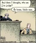 Cartoonist Dan Piraro  Bizarro 2010-06-26 courtroom