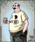 Cartoonist Dan Piraro  Bizarro 2010-07-27 beer
