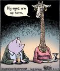 Cartoonist Dan Piraro  Bizarro 2010-08-20 giraffe