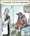 Comic Strip Dan Piraro  Bizarro 2010-08-31 hip replacement