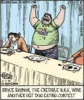 Cartoonist Dan Piraro  Bizarro 2010-11-01 hot dog