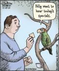 Cartoonist Dan Piraro  Bizarro 2010-12-29 bird food
