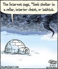 Comic Strip Dan Piraro  Bizarro 2011-03-19 cold