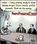 Comic Strip Dan Piraro  Bizarro 2011-04-22 easter bunny