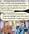Cartoonist Dan Piraro  Bizarro 2011-05-19 professional athlete