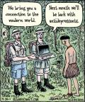 Cartoonist Dan Piraro  Bizarro 2011-05-26 lap