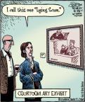 Cartoonist Dan Piraro  Bizarro 2011-05-28 courtroom